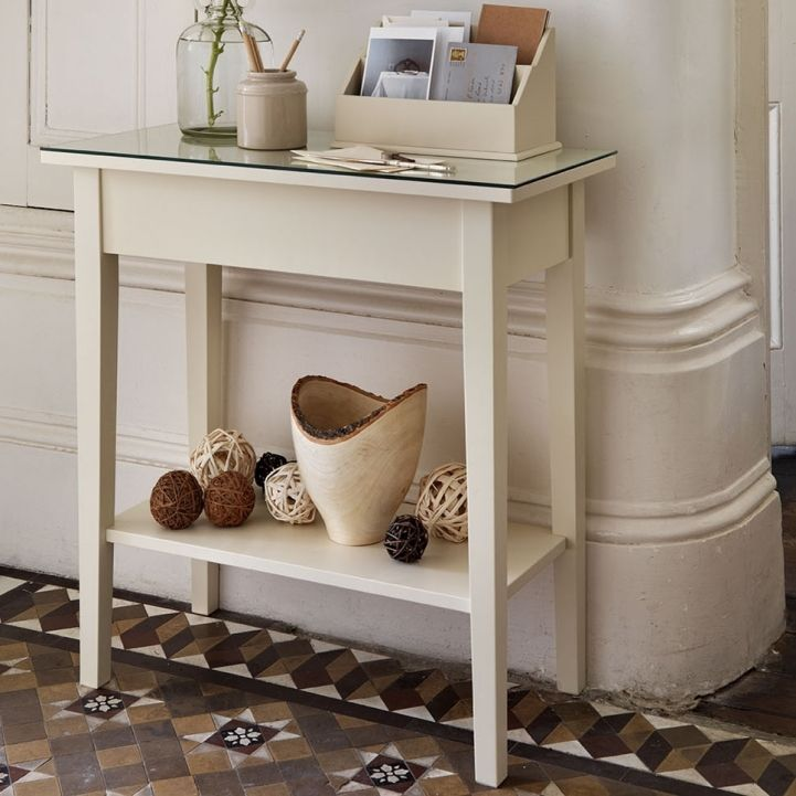 Small Narrow Console Table White