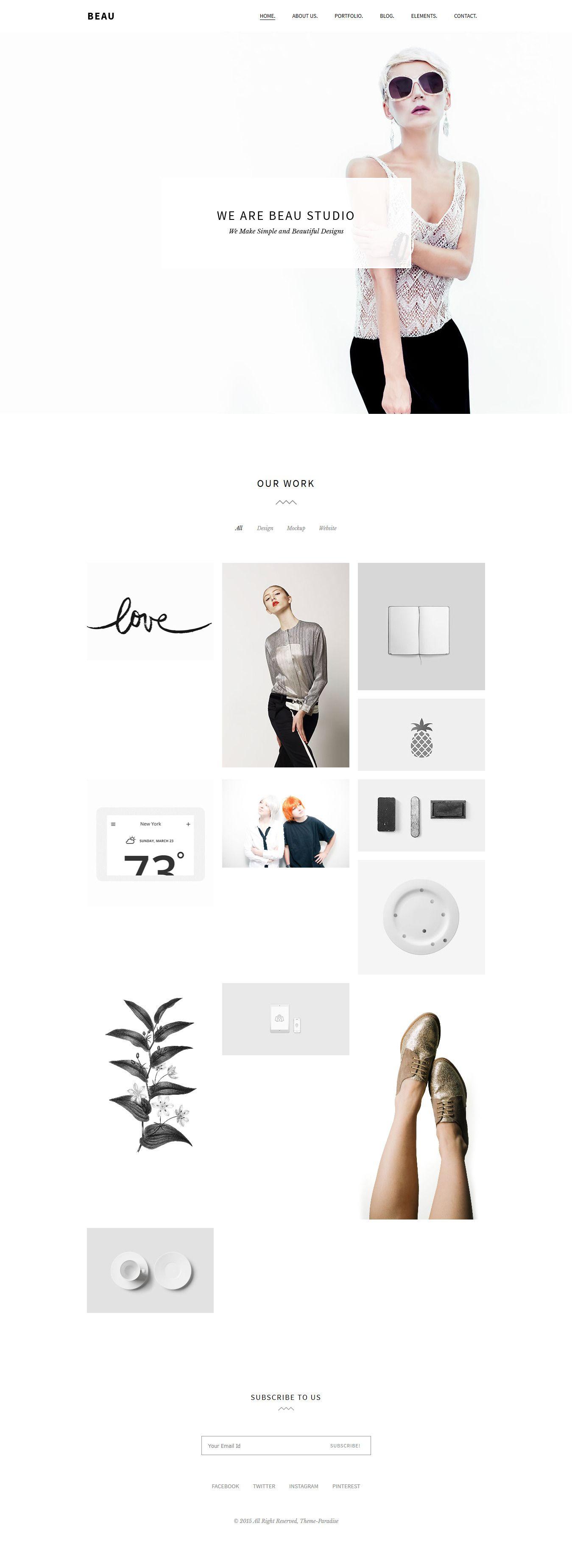 Beau - Minimal Portfolio/Agency WordPress Theme | Satzspiegel ...