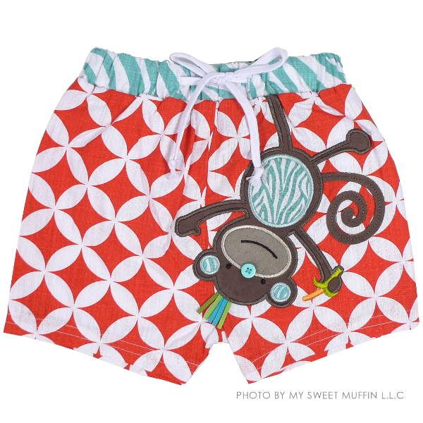 Monkey Swim Trunk #toddler #boy #clothing