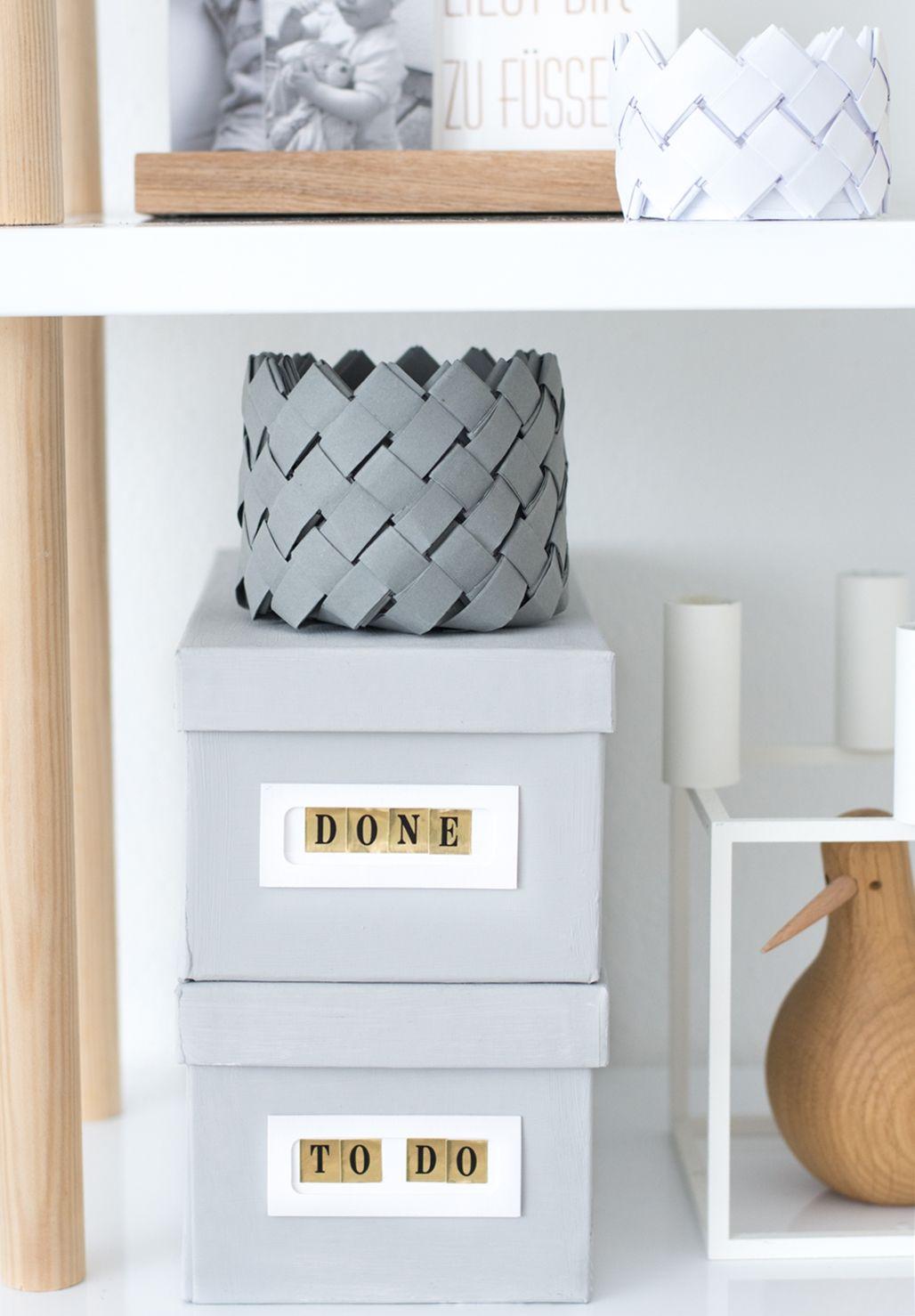 delightful einfache dekoration und mobel papiereimer #2: Deko ideen