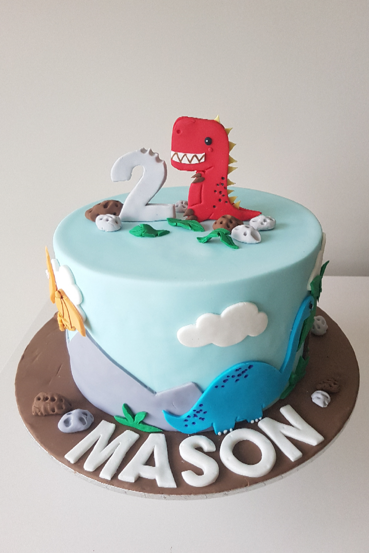 Pleasing Looking For A Dinosaur Theme Birthday Cake We Were So Glad That Funny Birthday Cards Online Elaedamsfinfo