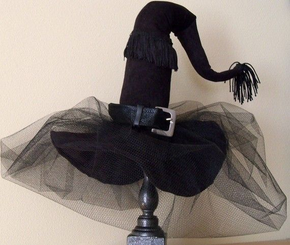 Witch Hat - Halloween Decoration -Diva Witch Hat Decor, Black on - halloween decorations witch