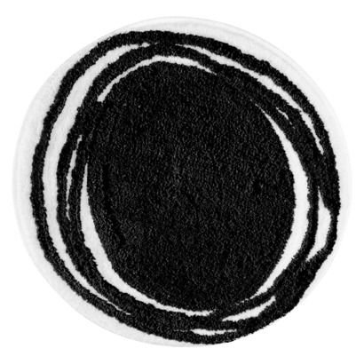 27 Bath Rug Interdesign Doodle Rug Black 24 Round Rugs