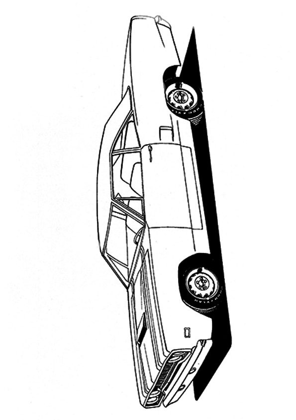 The muscle roadrunner hemi Coloring Page | Coloring pages ...