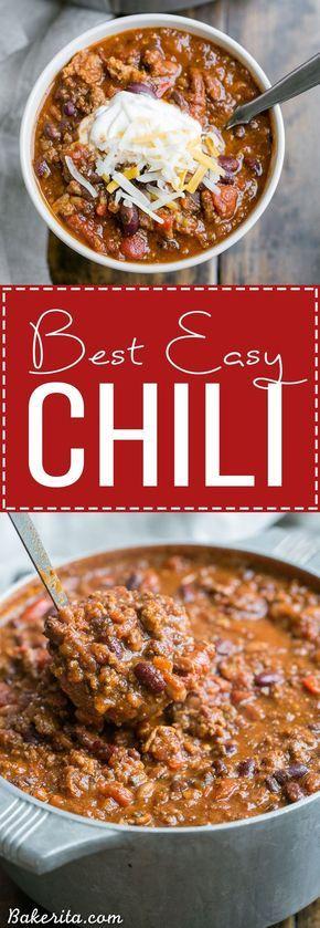 My Best Chili Recipe Recipes Chilli Recipes Food
