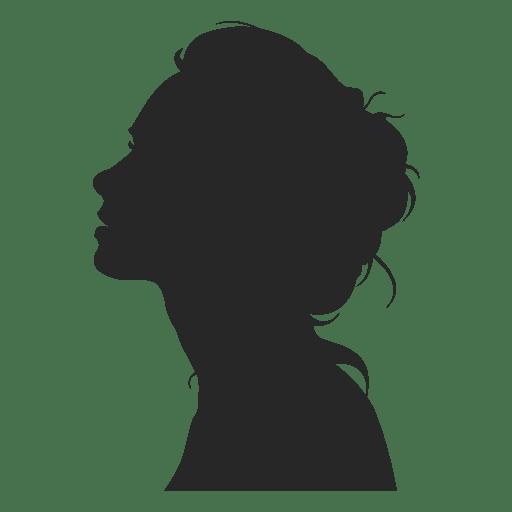 Girl Profile Avatar 1 Ad Aff Aff Avatar Profile Girl Silhouette Face Silhouette Drawing Silhouette Art