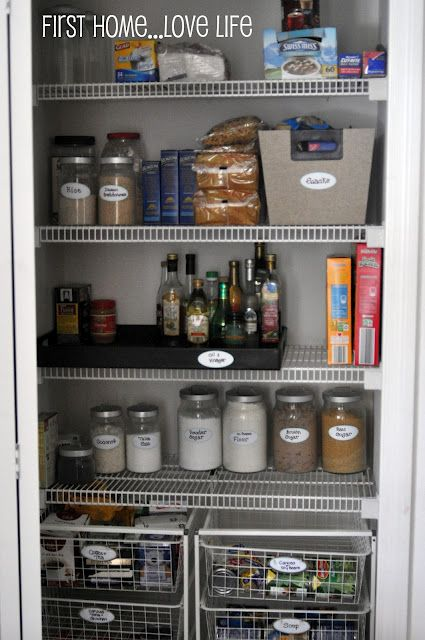 pantry makeover - might work for current pantry