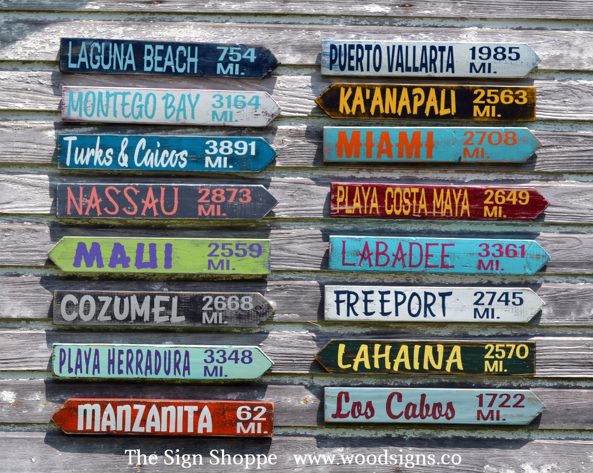 Beach Signs Decor Extraordinary Outdoor Decor Yard Sign City Mileage Arrow Customized Backyard 2018