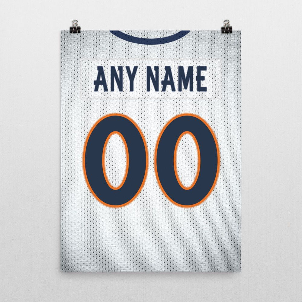 Denver Broncos Away Jersey Poster - Print Personalized Select ANY ...