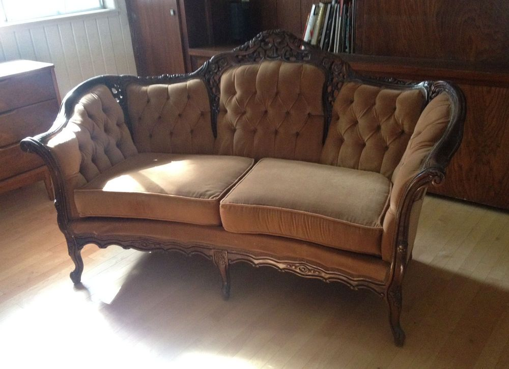 Antique furniture - Kimball French Victorian Sofa, Pick-up So Cal Victorian, Settees