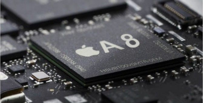 Apple A8 processor strengths What size