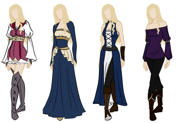 Frederique wardrobe reference by Amaethil.deviantart.com on