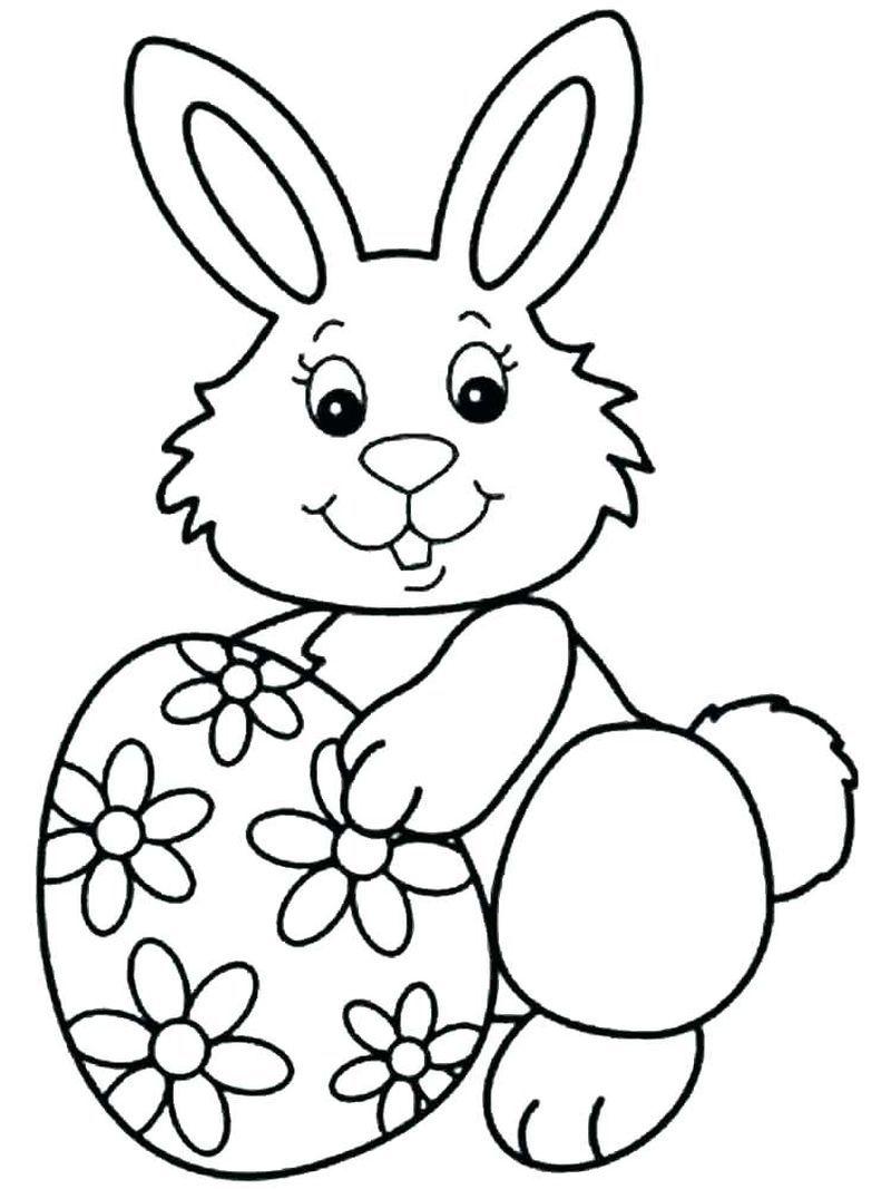 Baby Girl Rabbit Coloring Pages Hadiah Buatan Tangan Paskah Buatan Tangan
