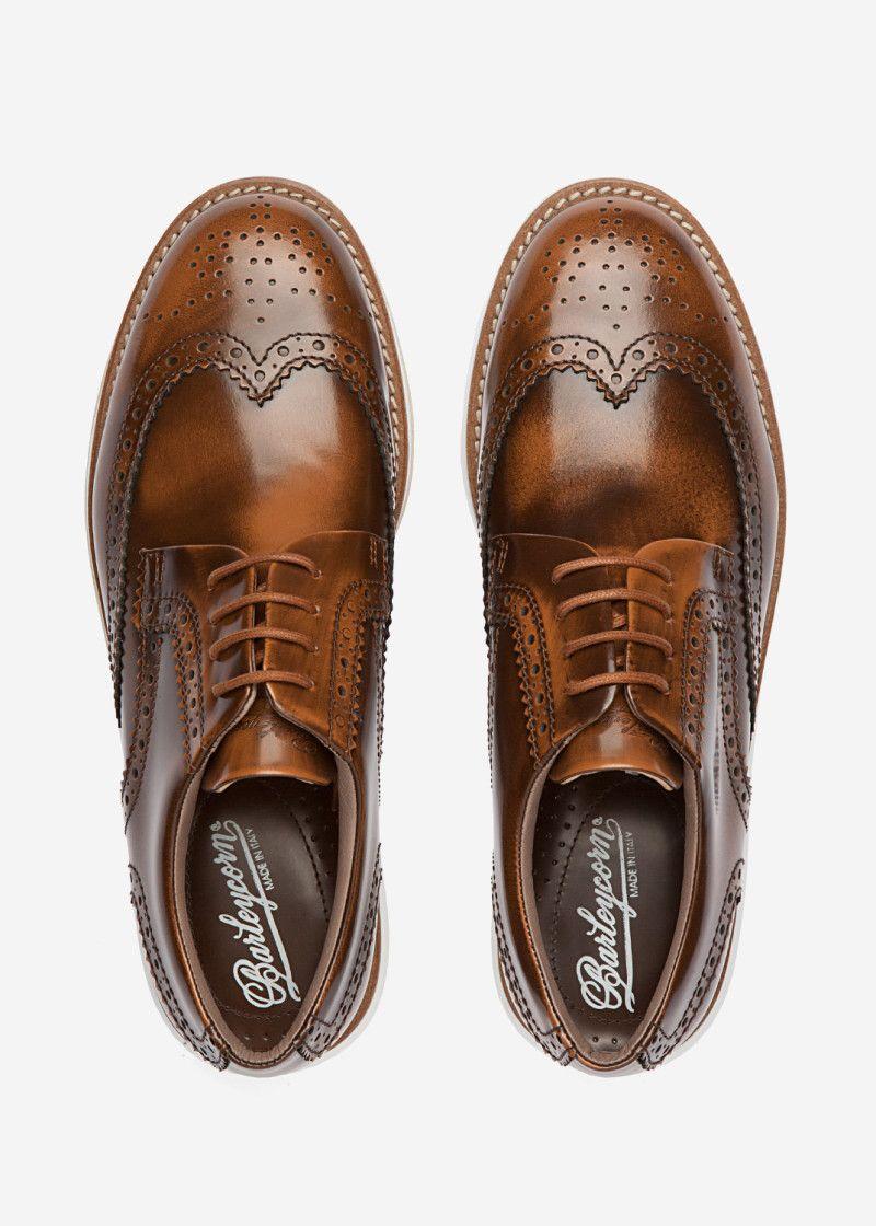 Barleycorn Air Brushed Brogue Brown | Zapatos, Moda hombre