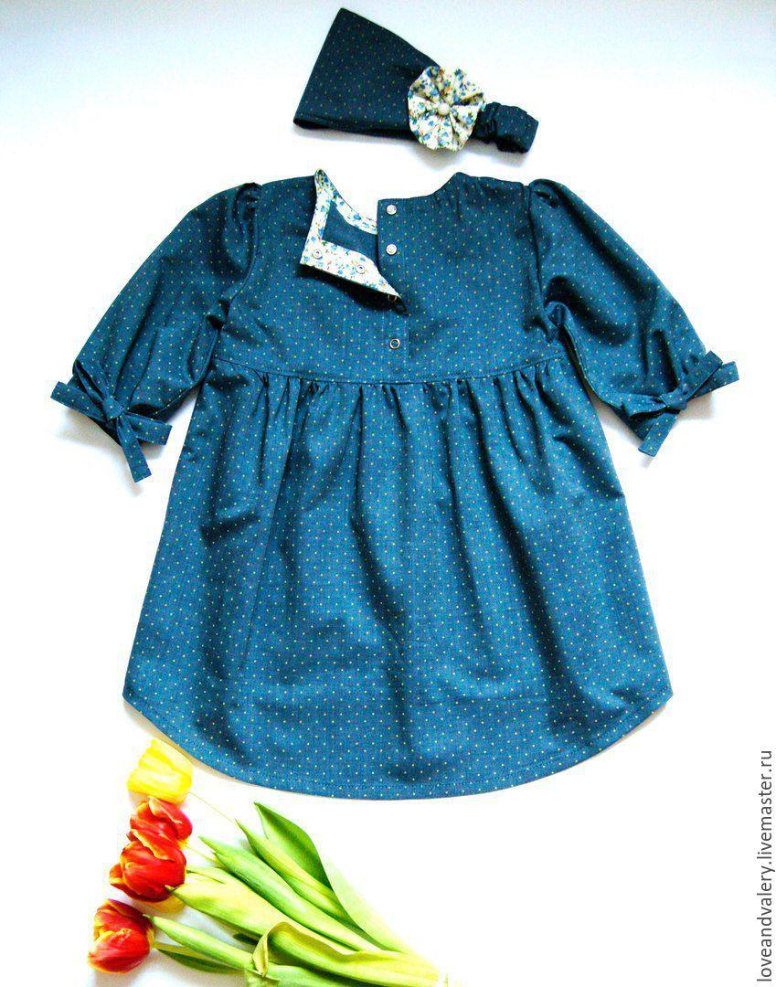 837a8873abf Купить Рост 98-104. Джинсовое платье-туника