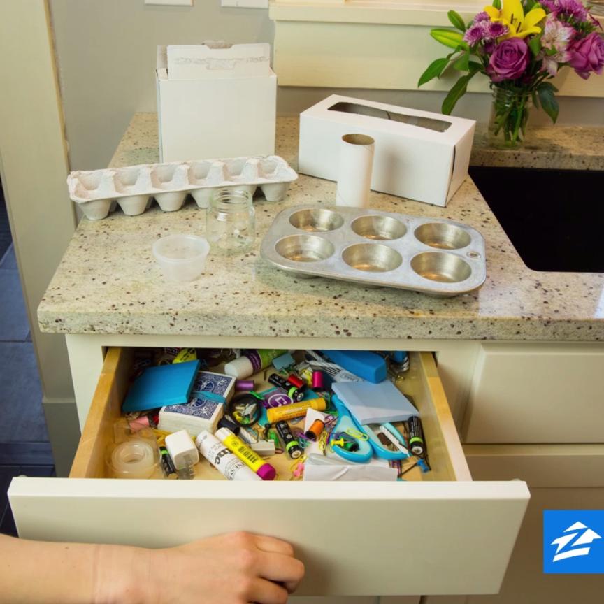 Konmari Kitchen Organization: Repurpose Recyclables, And Reorganize That Junk Drawer You