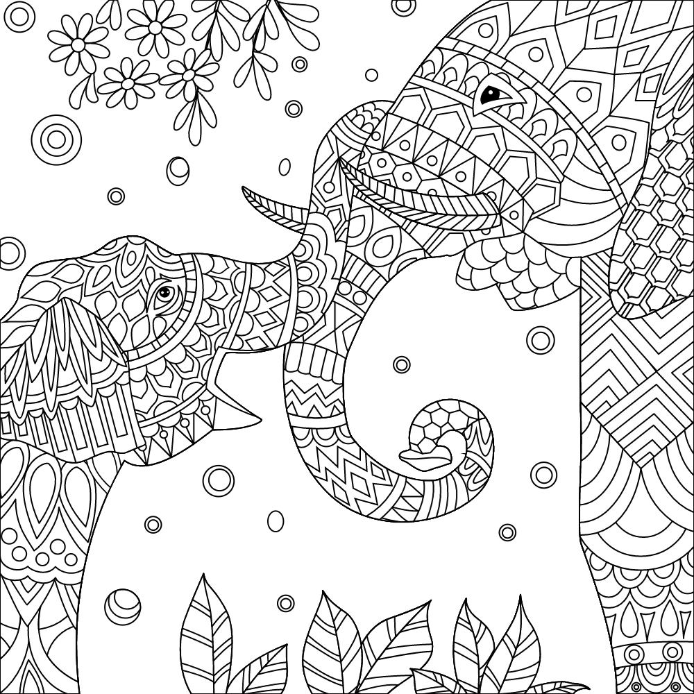 pin auf elephant coloring pages for adults