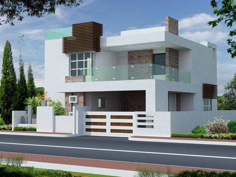 Elevations Of Independent Houses Google Search House Front Design Bungalow House Design Duplex House Design