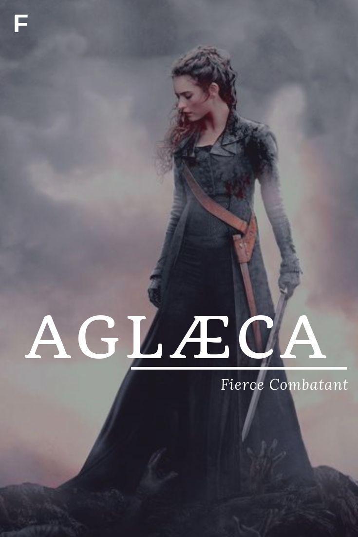 AGLÆCA, bedeutet Fierce Combatant, alte englische Namen, ein Baby Mädchennamen, ein Baby #babygirlnames