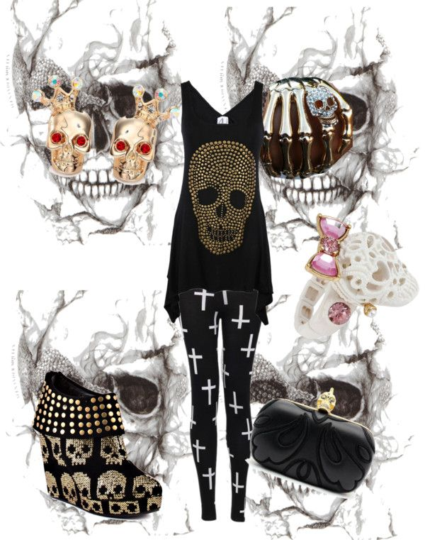 """skull candy"" by gsperandio ❤ liked on Polyvore"