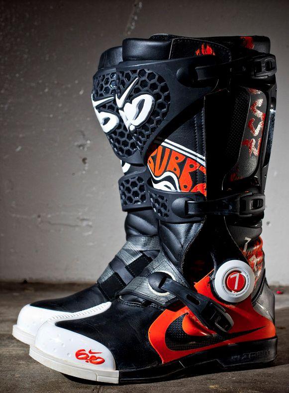 James Stewart S Nike Motocross Boots Kicks Pinterest