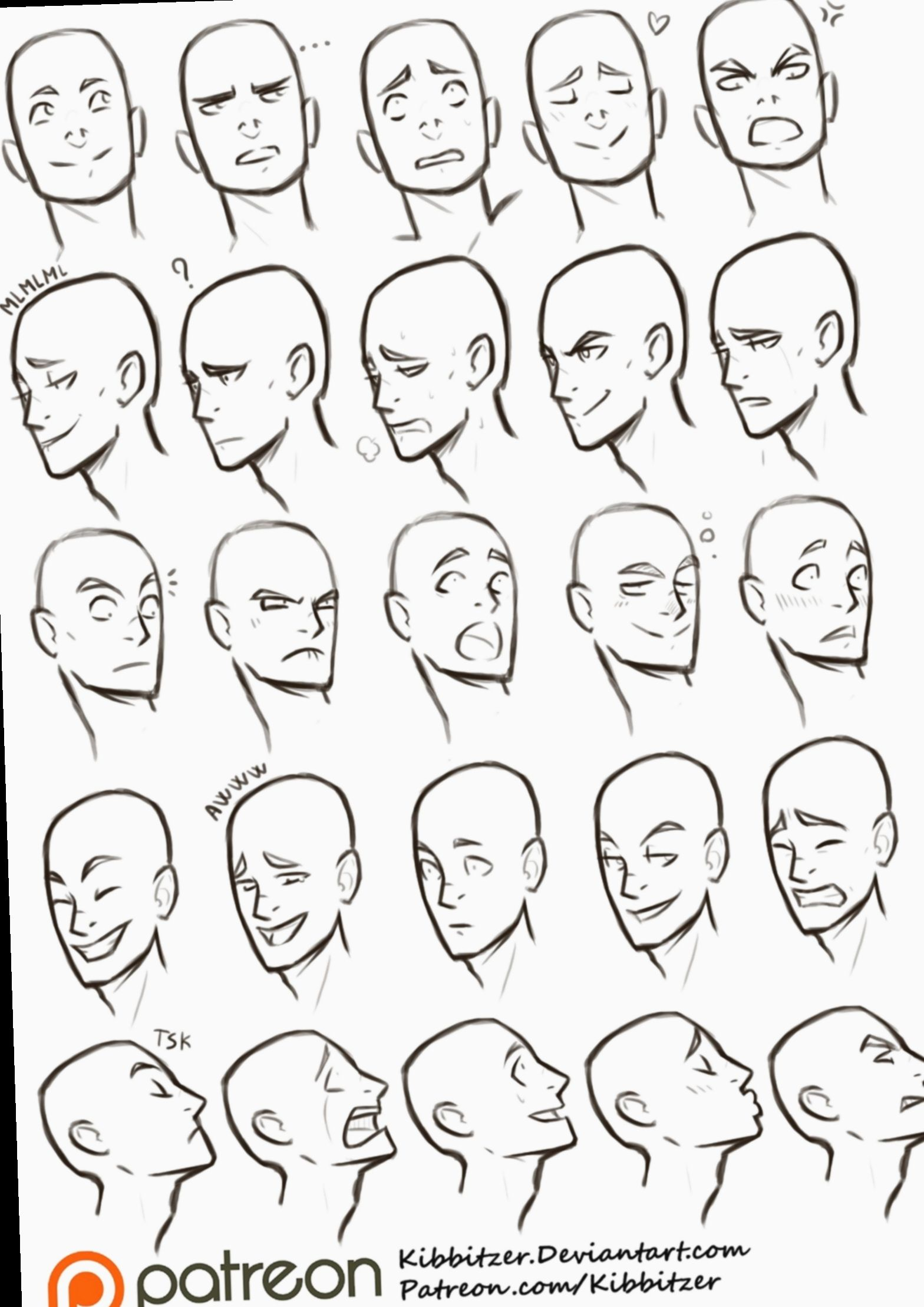 8 Anime Face Expressions Animation In 2019 Drawing Expressions