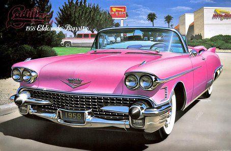 1958 Cadillac Eldorado Biarritz Pink Convertible