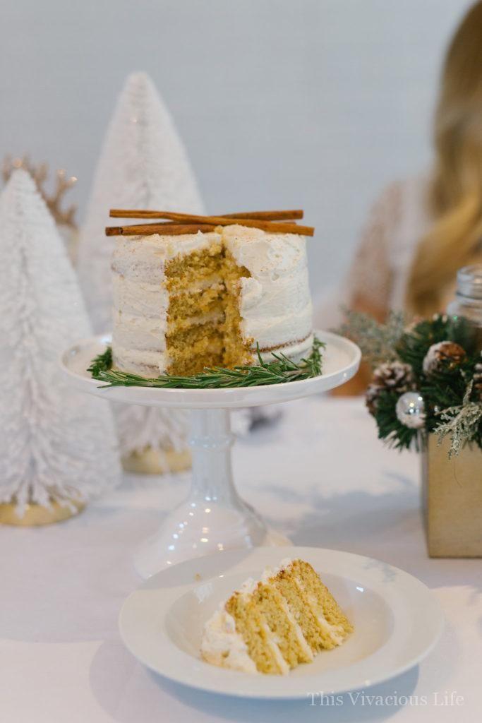 Gluten Free Dinner Party Ideas Part - 32: White Christmas Dinner Party With Gluten-Free Eggnog Cake | Christmas Party  Ideas | Christmas Party Decor | Gluten-free Holiday Cakes | Gluten-free  Holiday ...