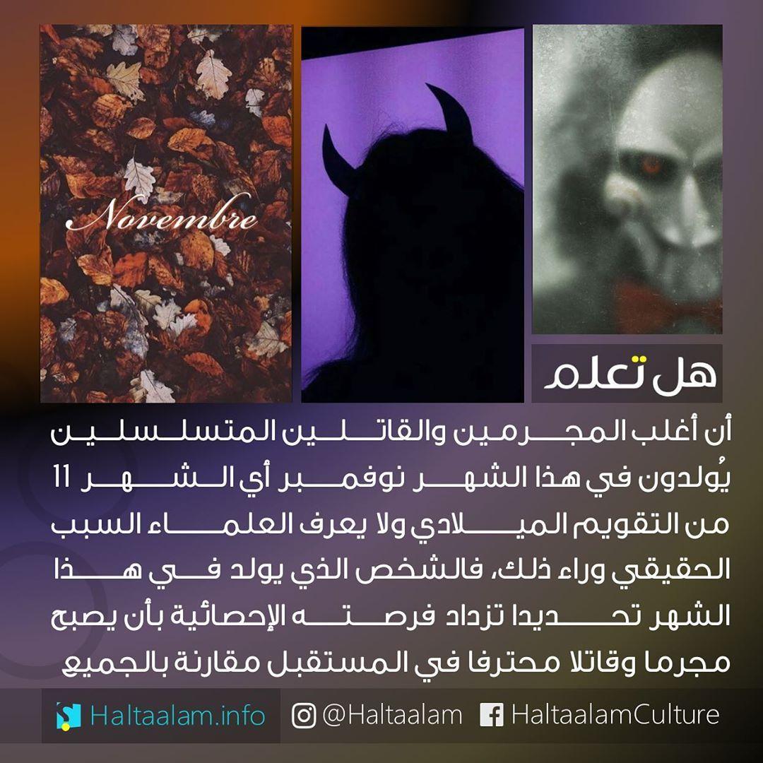 35 2k Likes 2 381 Comments هل تعلم Haltaalam On Instagram أغلب المجرمـين والقاتلين المتسلسلين Respect Quotes Knowledge Quotes Arabic English Quotes