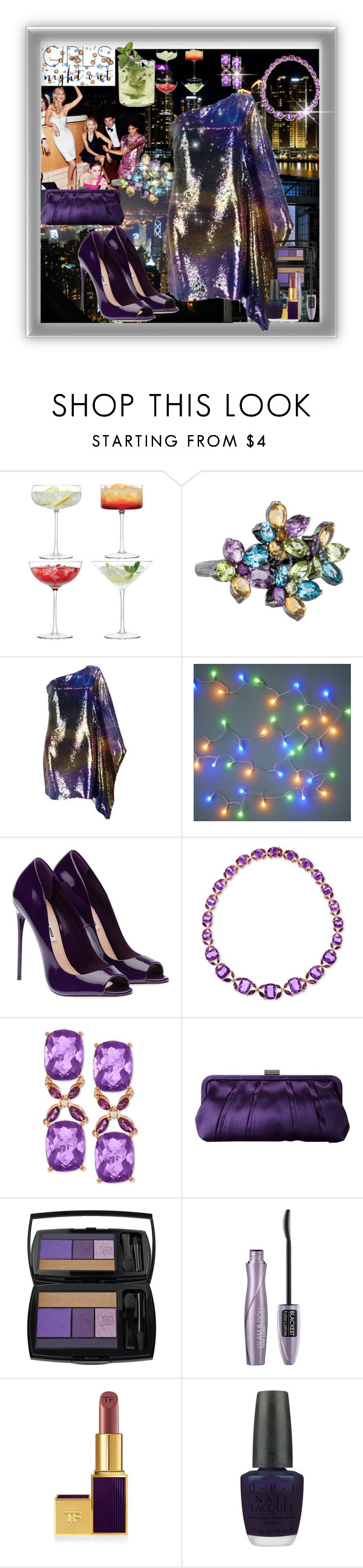 """Girls Night out"" by marionmeyer ❤ liked on Polyvore featuring LSA International, LALI Jewels, Nina, Lancôme, OPI and girlsnightout"