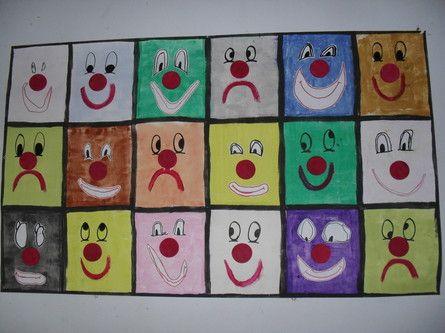 fresque coll billes de clowns cirque pinterest fresque bille et toiles en origami. Black Bedroom Furniture Sets. Home Design Ideas