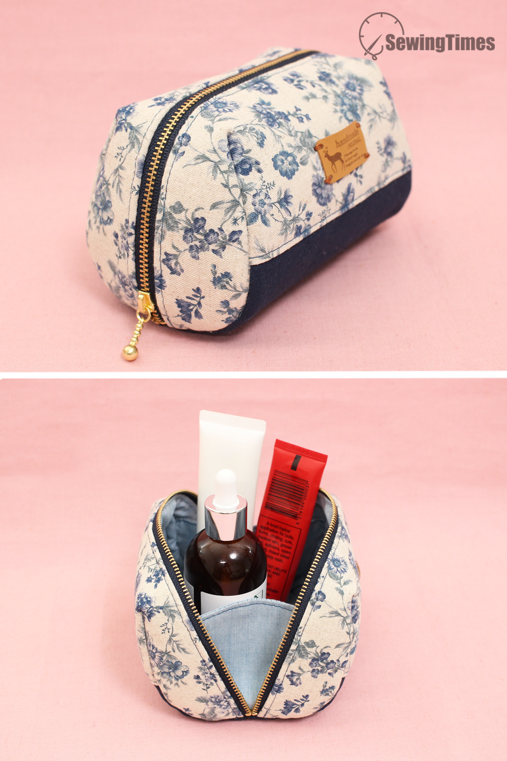 Diy Pouch Bag Tutorial In 2020 Diy Pouch Bag Diy Makeup Bag Sewing Makeup Bag