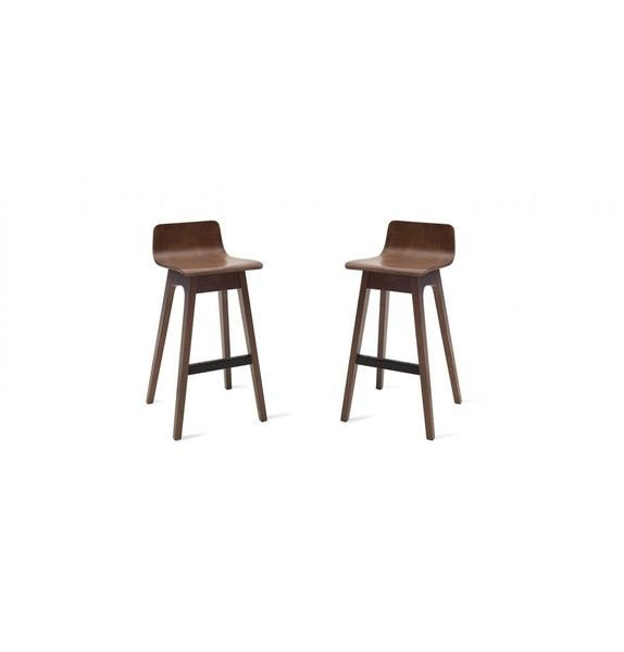 ava low back bar stool walnut ava bar stool and footrest