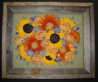 Wedding Bouquet Preservation ~ The Pressed Garden ~ Pressed Flower Art by Annie Fentz ~ www.pressedgarden.com