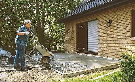 Fundament bauen trendy man soll auf den grabengrund den sand ausschten dieses verfahren verluft - Untergrund fur gartenhaus vorbereiten ...