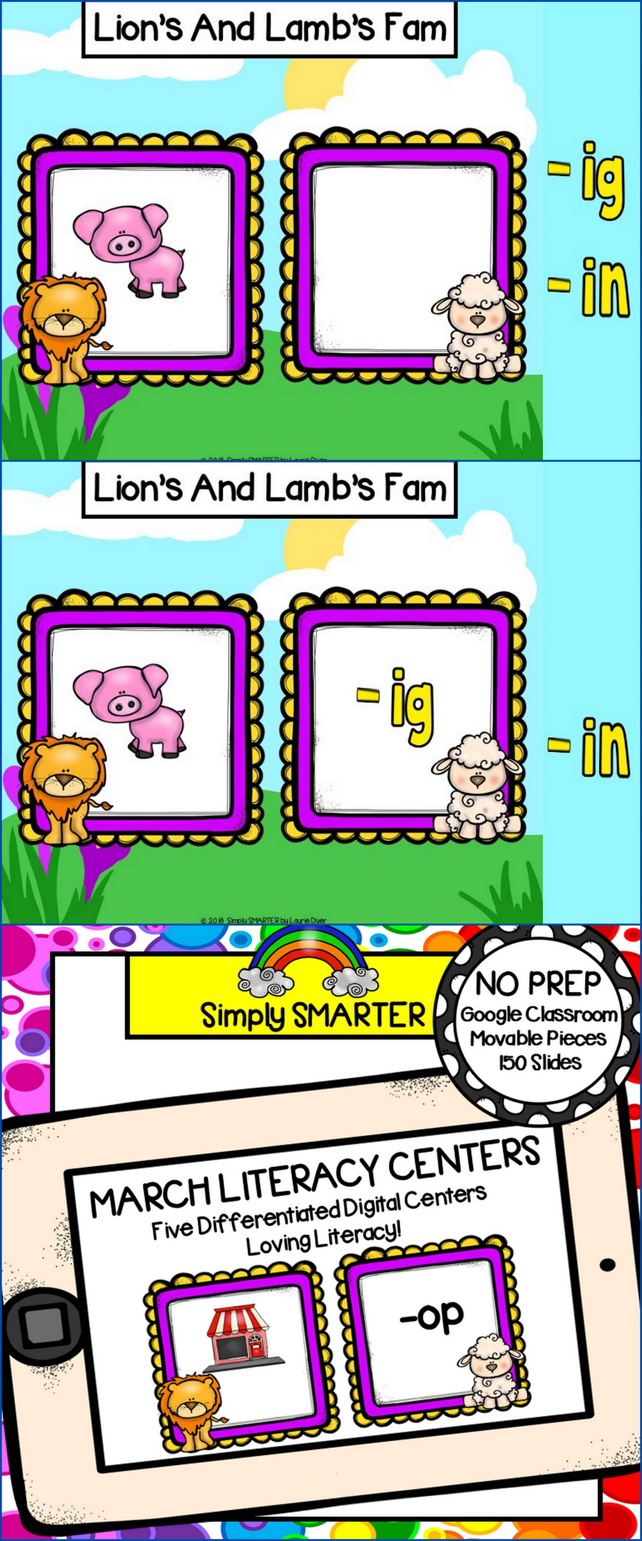 March Kindergarten Digital Literacy Centers For