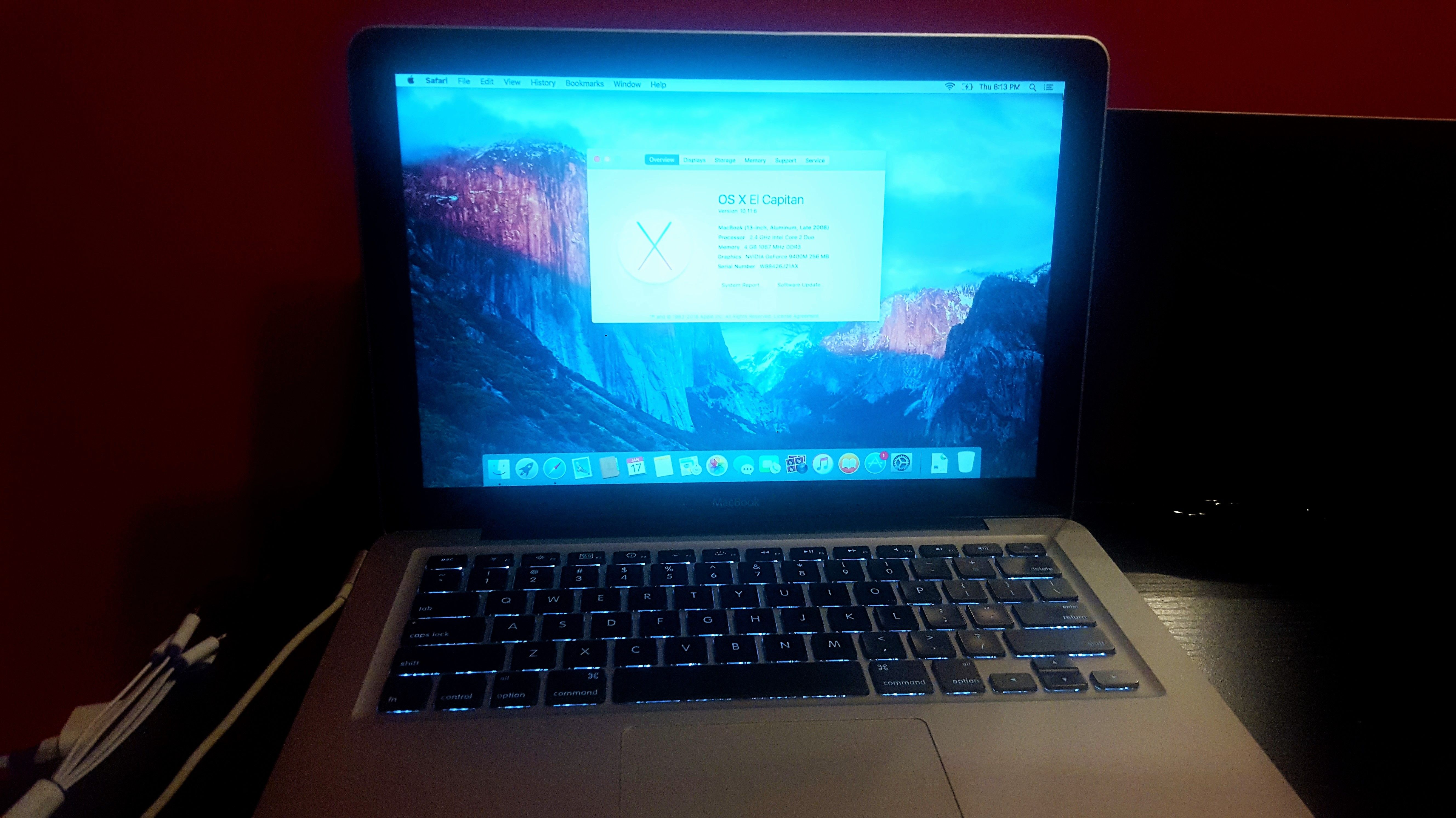 Macbook Pro 13 A1278 Core 2 Duo 2 4ghz 4gb Ram 500gb Hd New Battery Mb467lla Late 2008 Black Cover Case Included Macbook Pro Macbook Pro For Sale Macbook