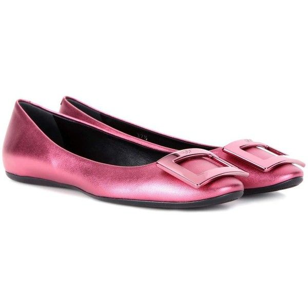 Roger Vivier Gommette metallic leather ballet flats