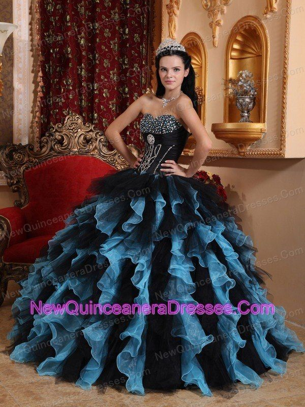 Black And Blue Quince Dress Exclusive Black And Blue Sweet 16