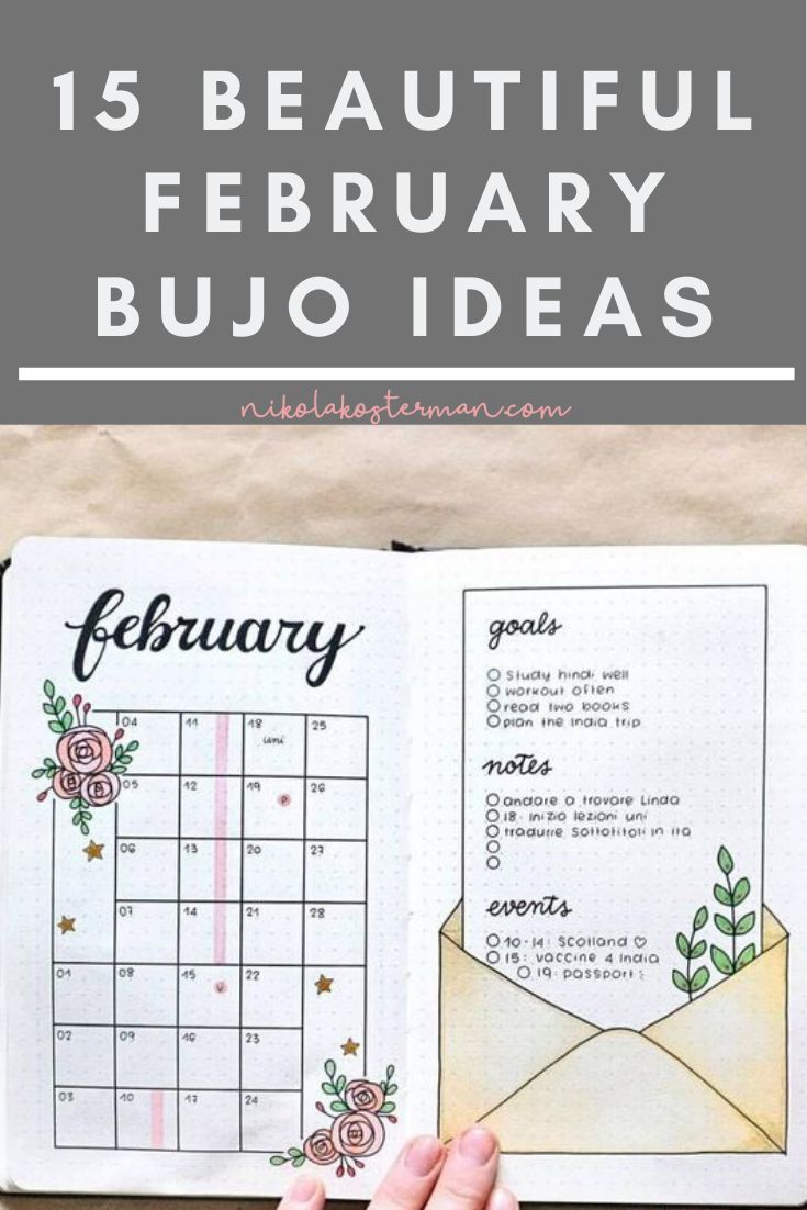 15 February Covers and Spreads for 2020 that you NEED in your Bullet Journal!