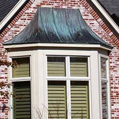 Copper Awnings Provide Beautiful Framing To Any Door Or Window And A Lifetime Of Style Satisfaction Can Be Functional As Well