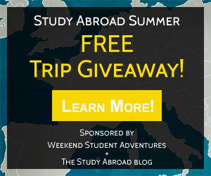 The Study Abroad Blog   Study Abroad Student Experiences - Weekend Student Adventures Giveaway http://thestudyabroadblog.com/weekend-student-adventures-giveaway/