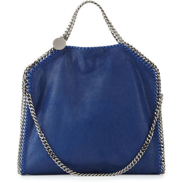 Stella McCartney Falabella Fold-Over Tote Bag (€1.135) ❤ liked on Polyvore featuring bags, handbags, tote bags, blue bird, blue tote bag, blue tote, stella mccartney purse, fold over purse and fold over tote