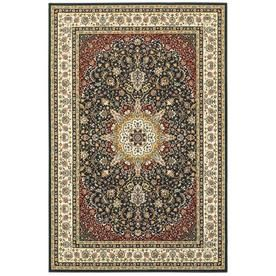 Archer Lane Westferry Navy Indoor Oriental Area Rug Common 10 X 13 Actual 118 Ft W X 154 Ft L 119kshu10l Area Rugs Floral Rug Rugs