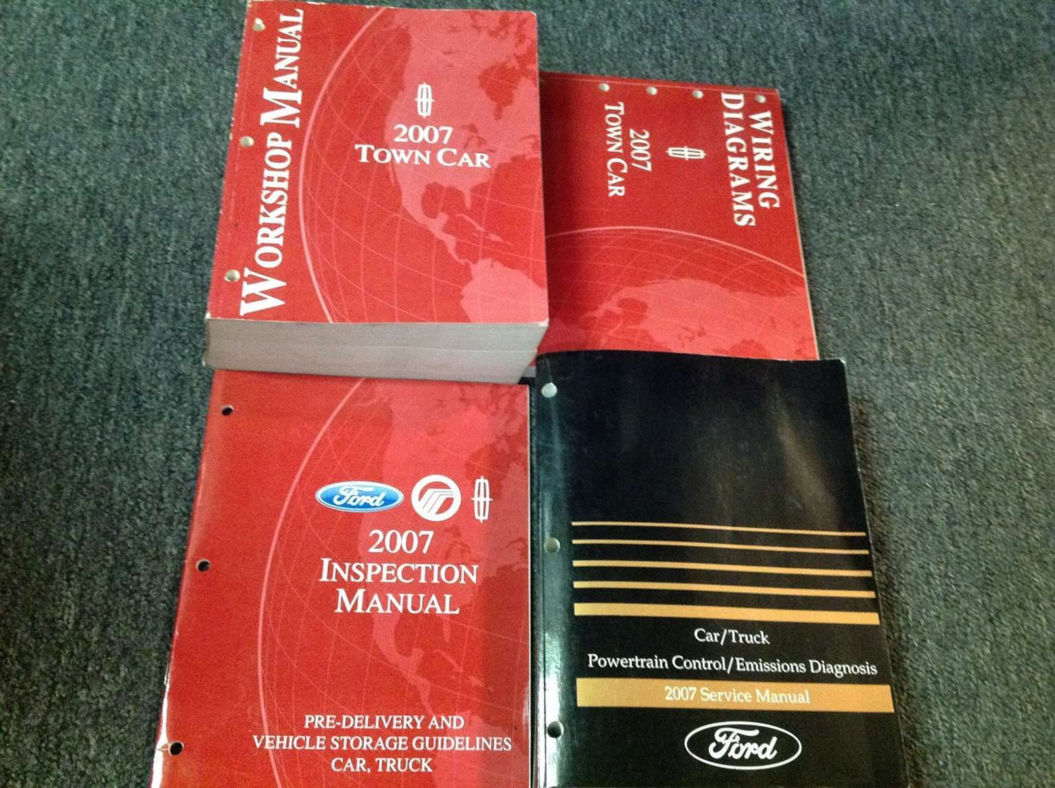 2007 Lincoln Town Car Wiring Diagram And Lincoln Town Car Service Repair Shop Manual Set W Ewd