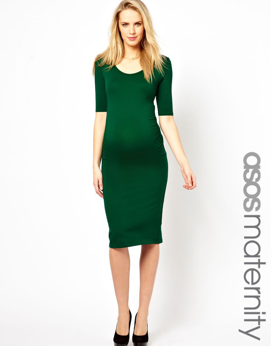 b02274f9835ff Emerald green maternity dress | Bump Fashion in 2019 | Green ...