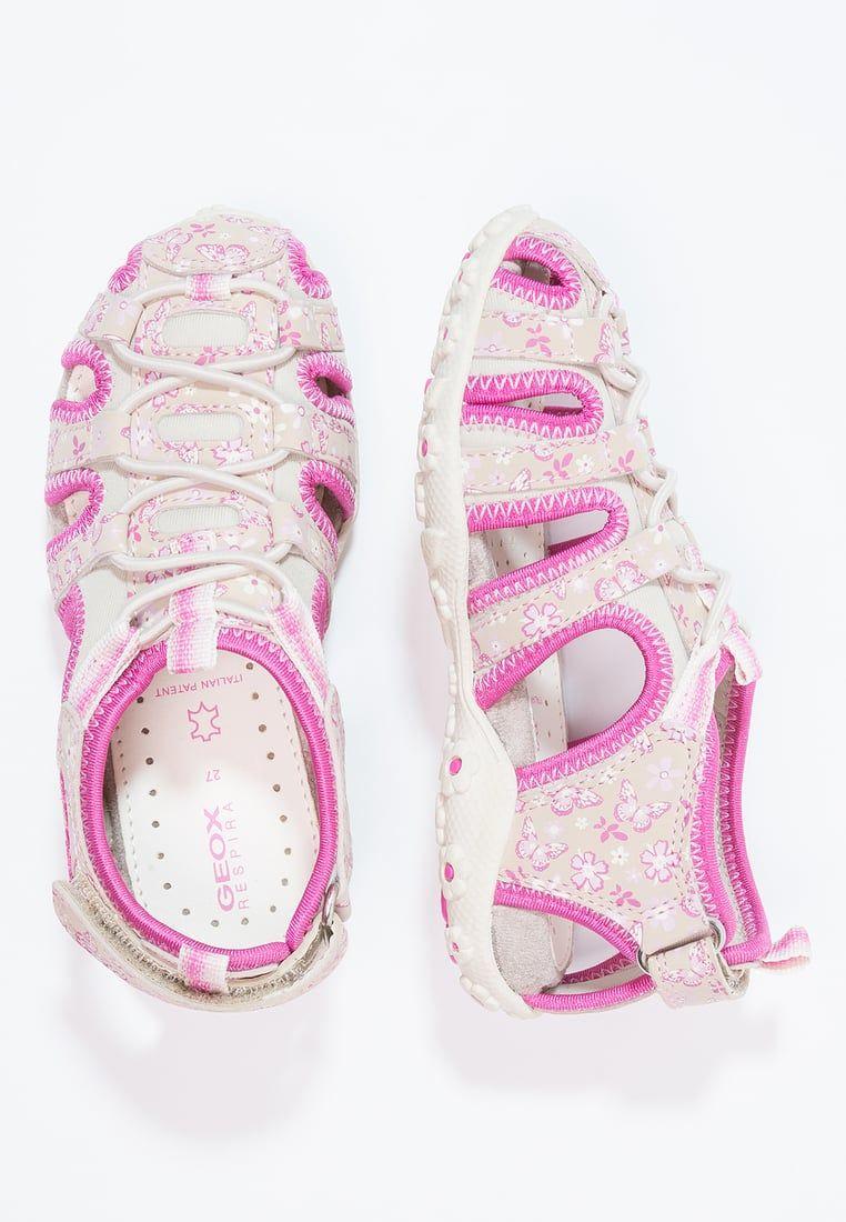 Geox Roxanne Sandaly Trekkingowe Beige Fuchsia Zalando Pl Baby Shoes Walking Sandals Geox Sandals