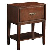 Small nightstand for Caitlin's side of the bed.  Found it at Wayfair - Isabel 1 Drawer Nightstand