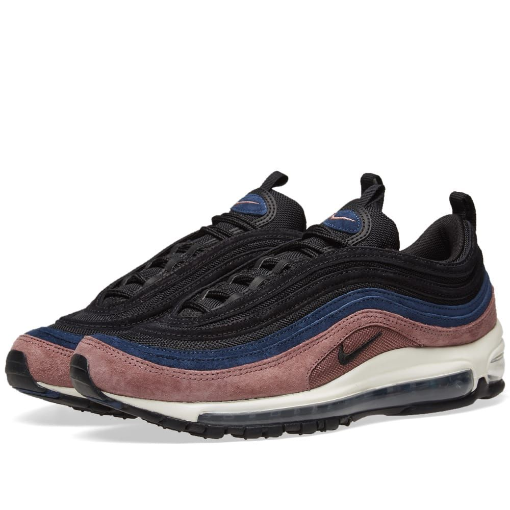 2d09f33912 Nike Air Max 97 Premium Mauve, Black, Navy & Sail | Tags: sneakers, suede,  pink