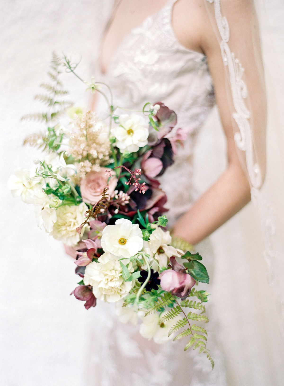 Wild Green Yonder's carnation, Japanese anemone, orchid, fern, and astilbe bouquet / Victorian #astilbebouquet Wild Green Yonder's carnation, Japanese anemone, orchid, fern, and astilbe bouquet / Victorian #astilbebouquet